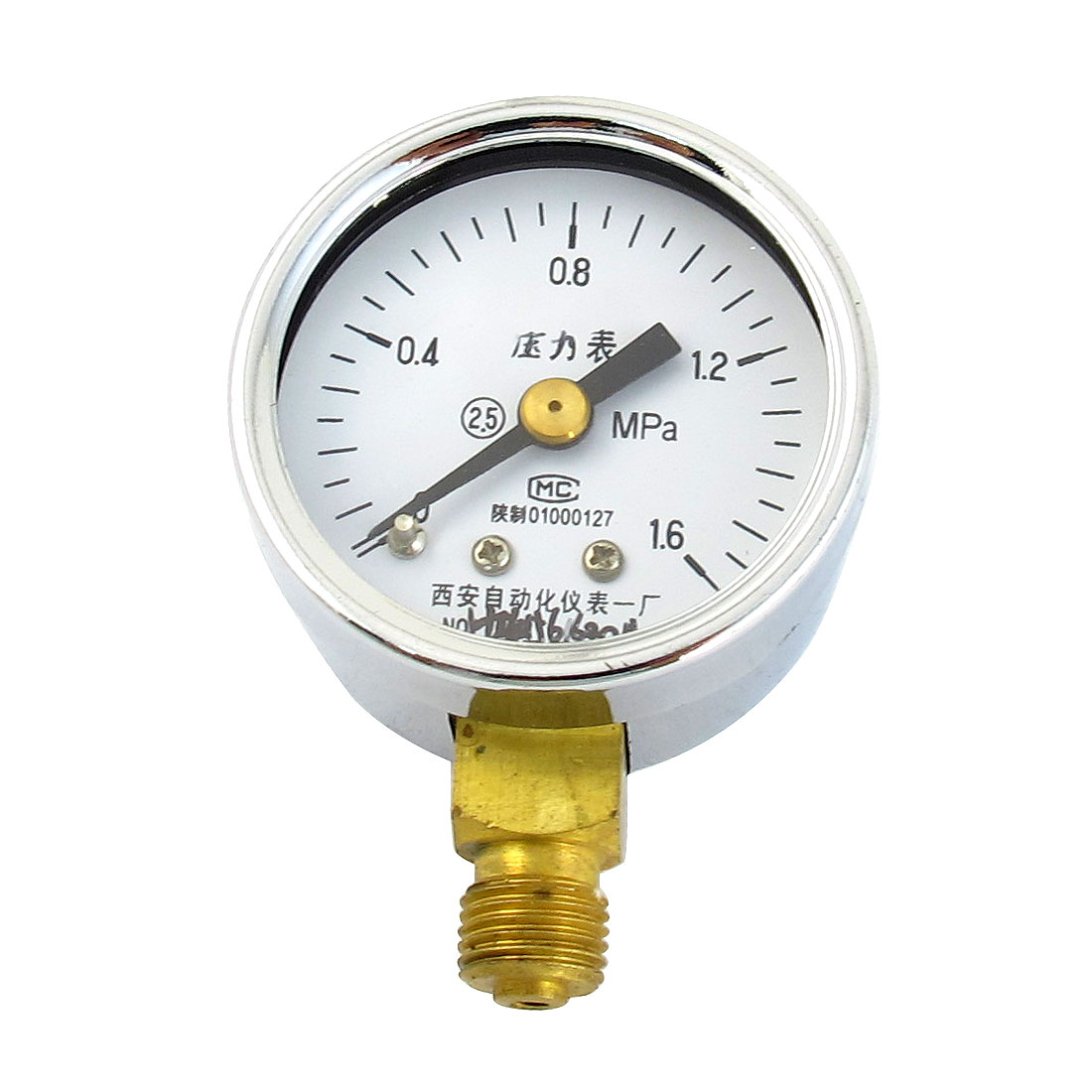 White Dial 1/8PT Male Threaded 0-1.6Mpa Pneumatic Air Pressure Measuring Gauge