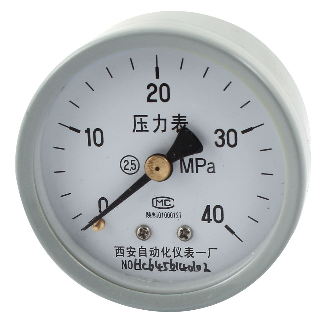 1/4PT Male Threaded 0-40Mpa Pneumatic Air Pressure Measuring Gauge Light Gray