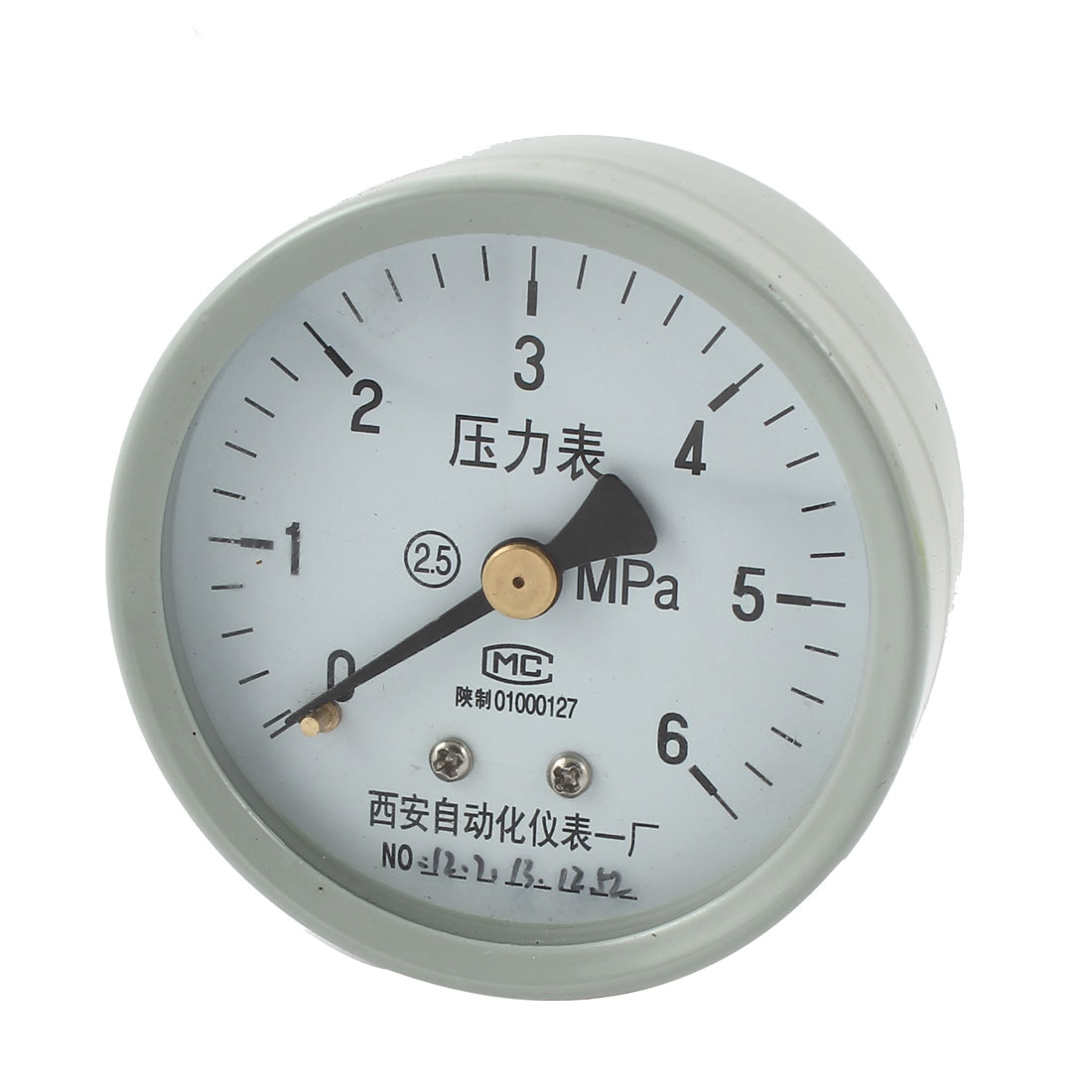 1/4PT Male Threaded 0-6Mpa Arabic Number Display Air Pressure Measuring Gauge