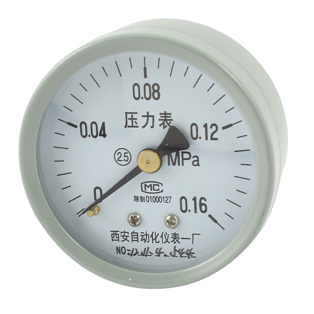 1/4PT Threaded 0-0.16Mpa Arabic Number Display Air Pressure Measuring Gauge