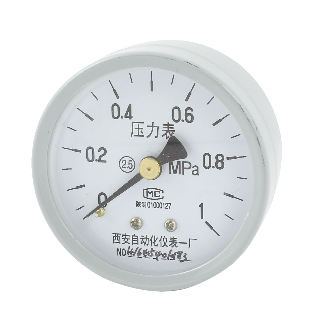 Metal Shell 0-1MPa 1/4PT Threaded Measuring Air Pressure Gauge 53mm Dial
