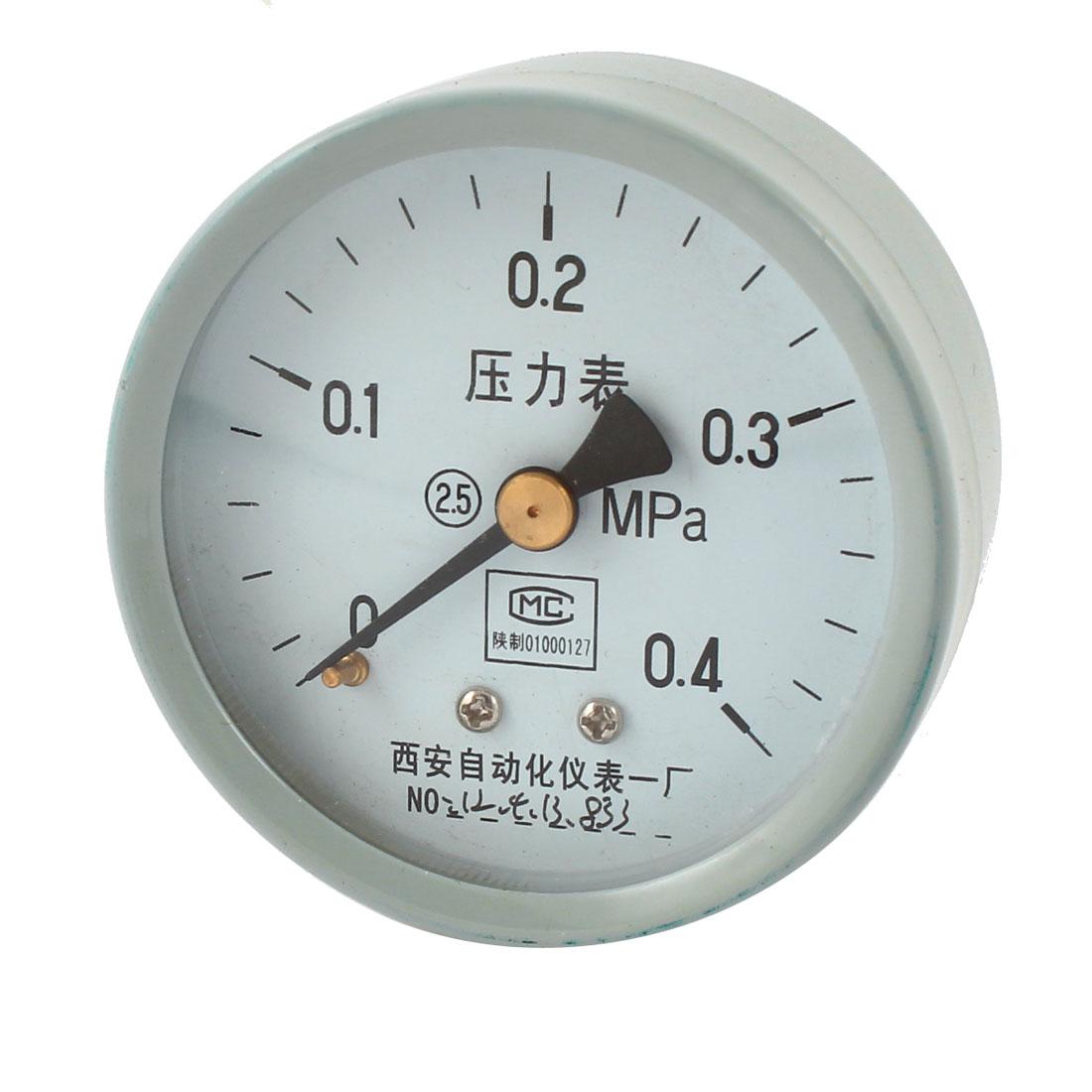 1/4PT Threaded 0-0.4Mpa Arabic Number Display Air Pressure Measuring Gauge