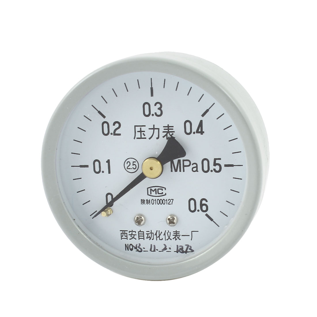 Light Gray 0-0.6MPa 1/4PT Male Thread Measuring Air Pressure Gauge 53mm Dial