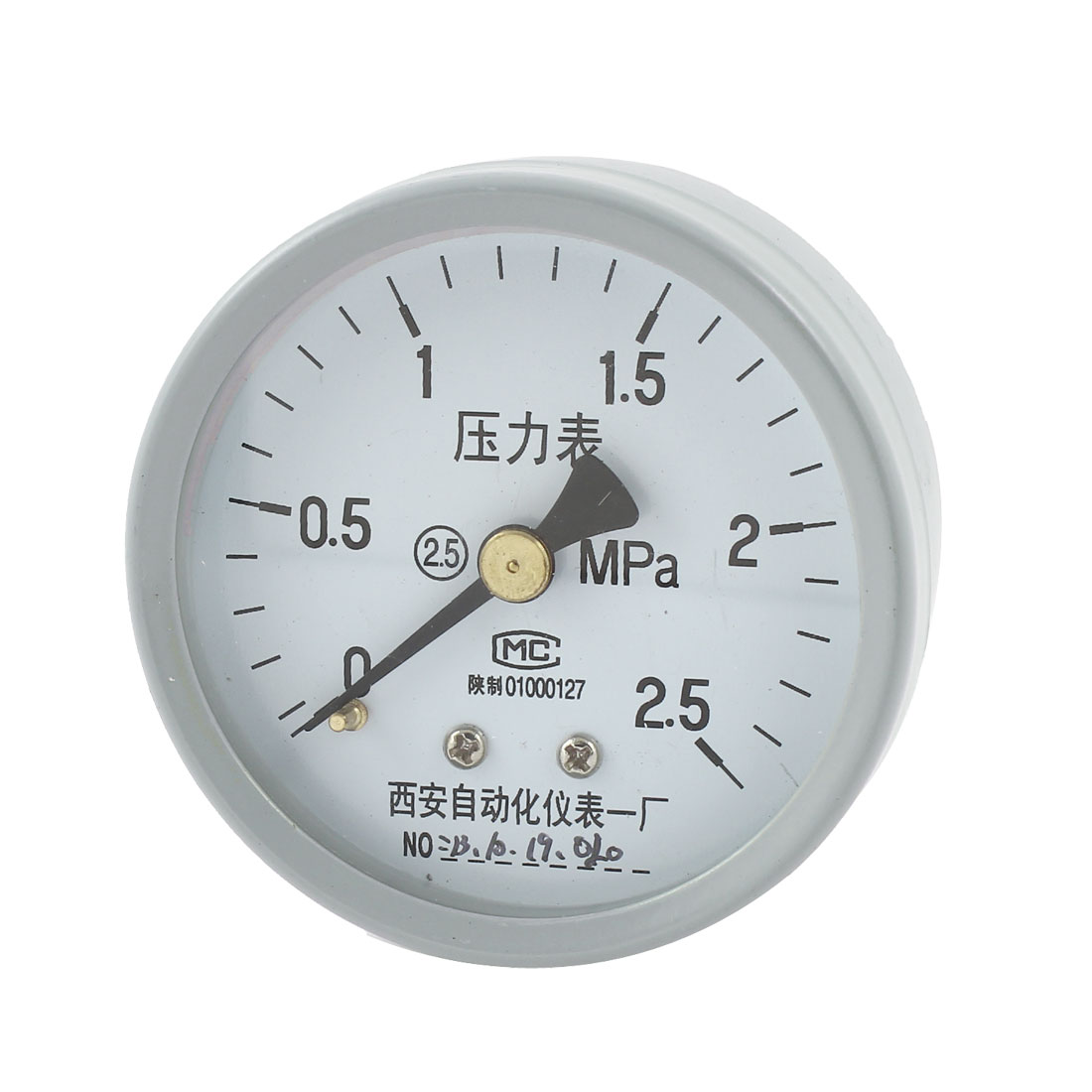 1/4PT Male Threaded 0-2.5Mpa Arabic Number Display Air Pressure Measuring Gauge
