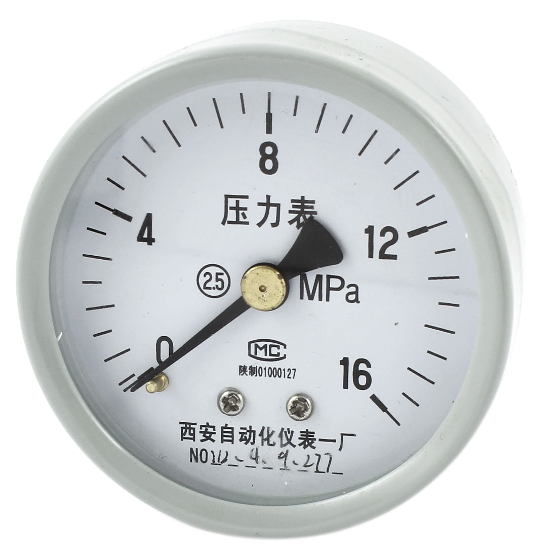 1/4PT Threaded 0-16Mpa Arabic Number Display Air Pressure Testing Measuring Gauge