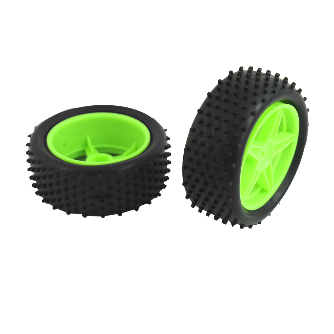 Pair 06010 06026 Front Rear Wheel Rim Tyre Set for 1/10 Scale RC Buggy Car
