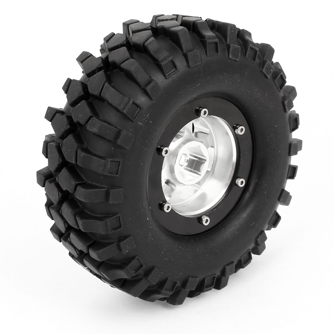 "Black Rubber RC Truck 1.9"" Wheel Tyre for D90 Land Rover SCX10 CC01 RC4WD"