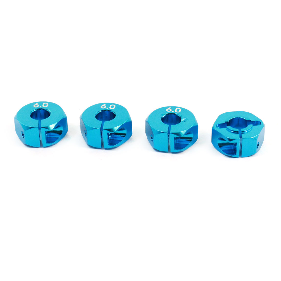 4 Pcs Blue 6mm Thickness 12mm Wheel Hex Hub Drive for RC 1/10 Scale Car Upgrade Part