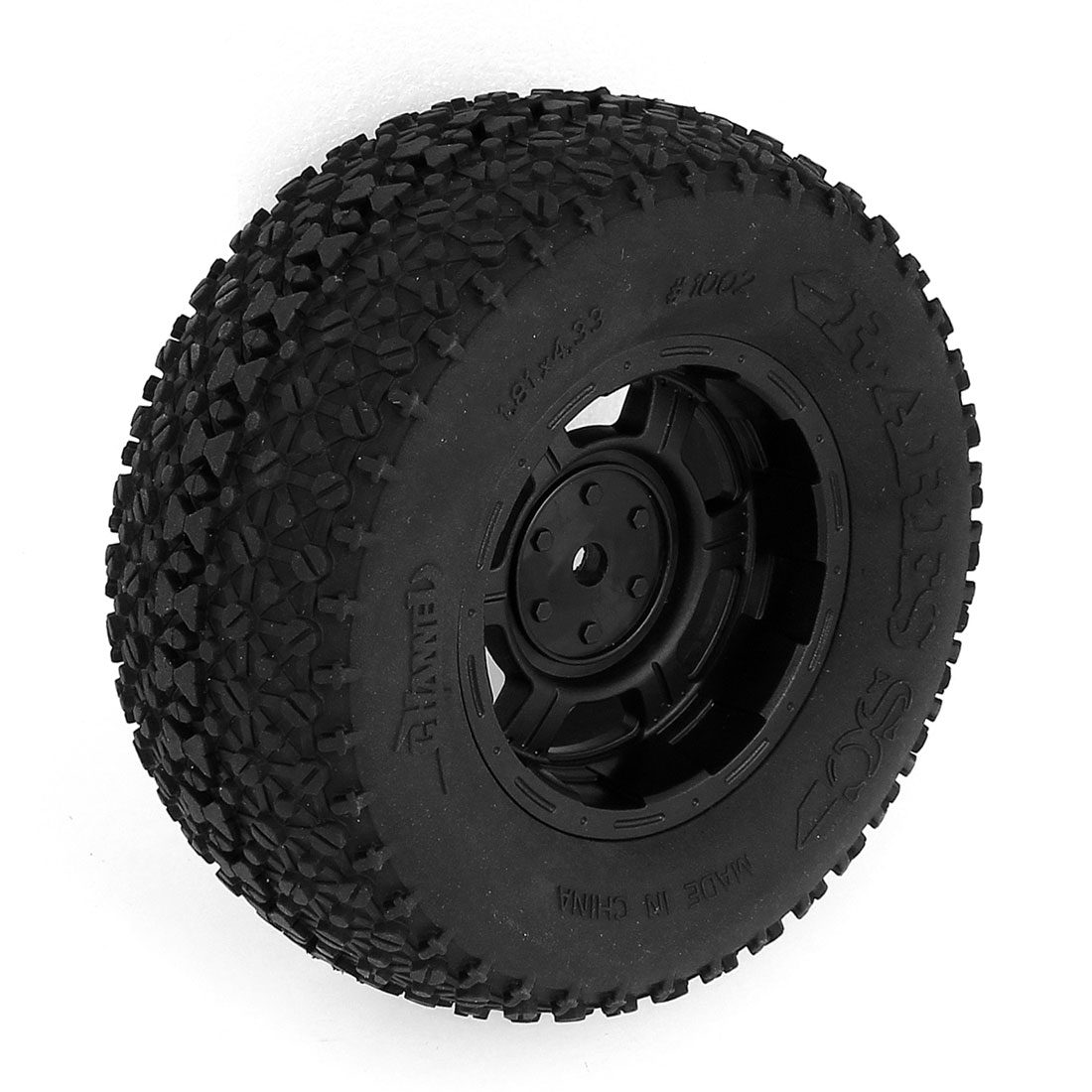Black Rubber 1/10 RC Truck Short Course Wheel Rim Tyre for VKAR A10 Traxxas Slash