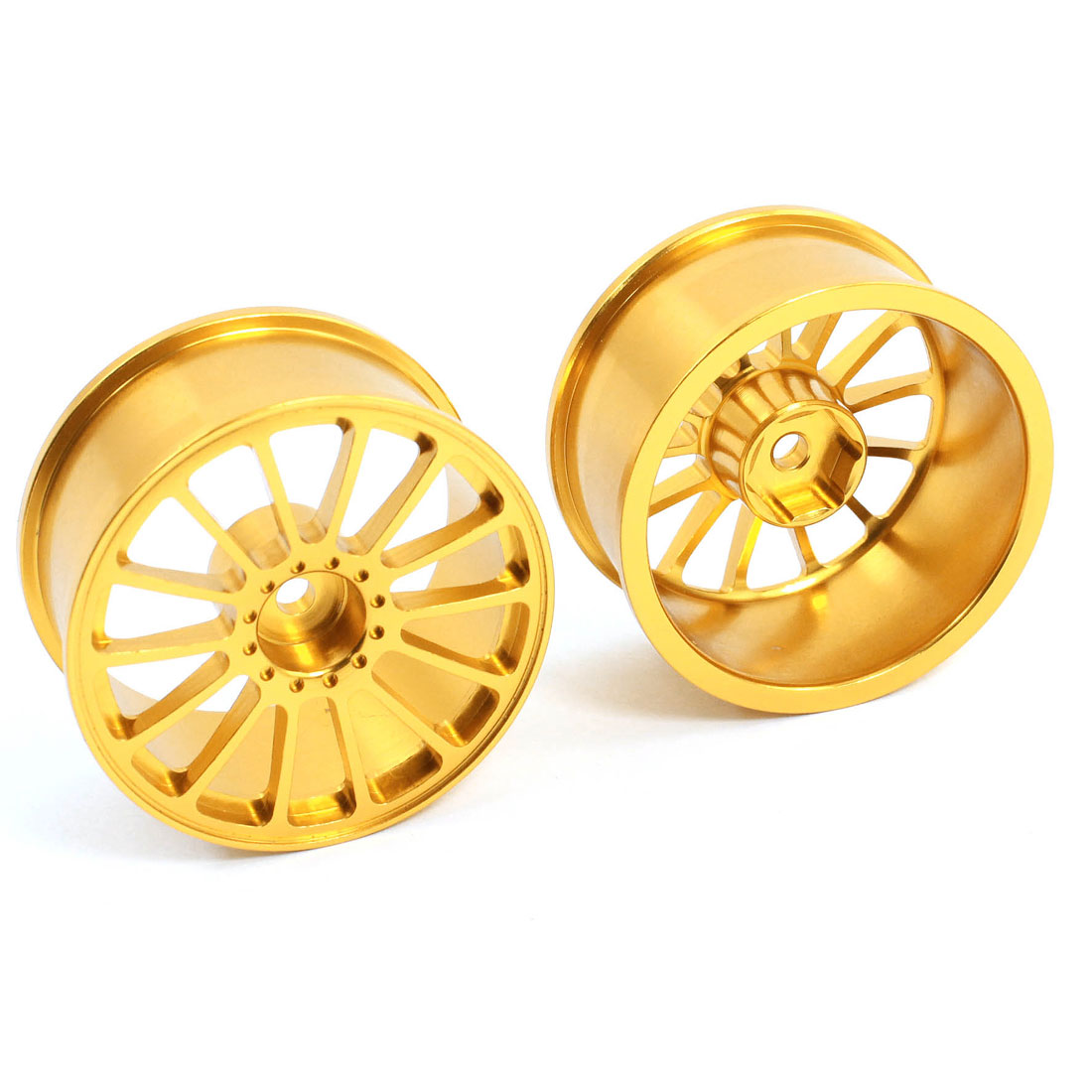 2 Pcs 1:10 RC Model Flat Racing Car Truck Aluminum Alloy Drift Wheel Rim 48mm Dia