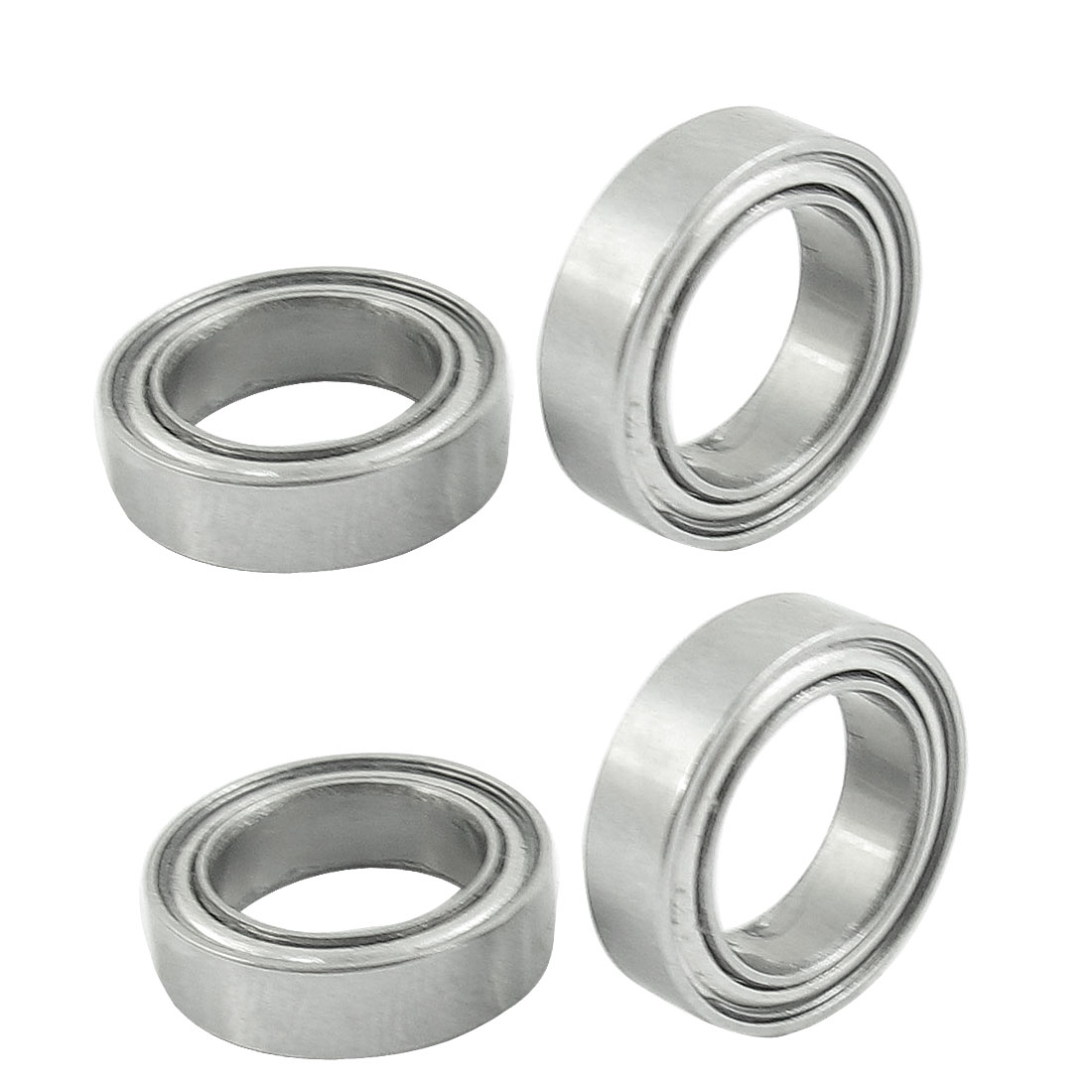 4pcs 15mm x 10mm x 4mm Double Shielded Ball Bearing for RC Model Car