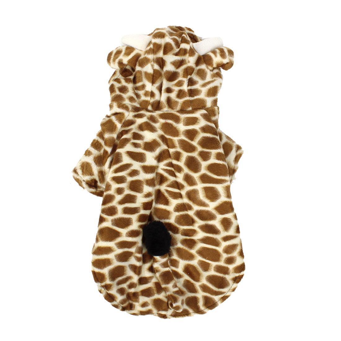 Winter Warm Giraffe Shape Hoodie Single Breasted Sleeved Pet Dog Doggy Apparel Coat Clothes Coffee Color Beige S