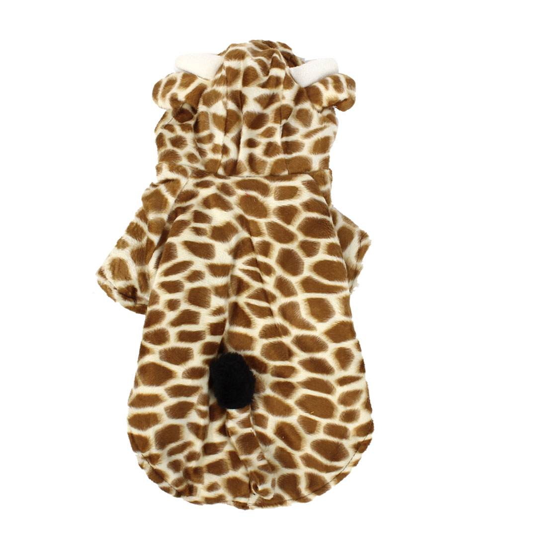 Winter Warm Giraffe Shape Hoodie Single Breasted Sleeved Pet Dog Doggy Apparel Coat Clothes Coffee Color Beige M