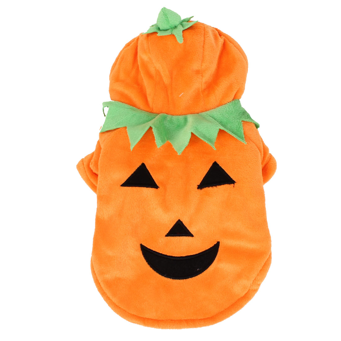 Halloween Pumpkin Shape Single Breasted Hoodie Pet Dog Doggy Clothes Apparel Orange Size XS