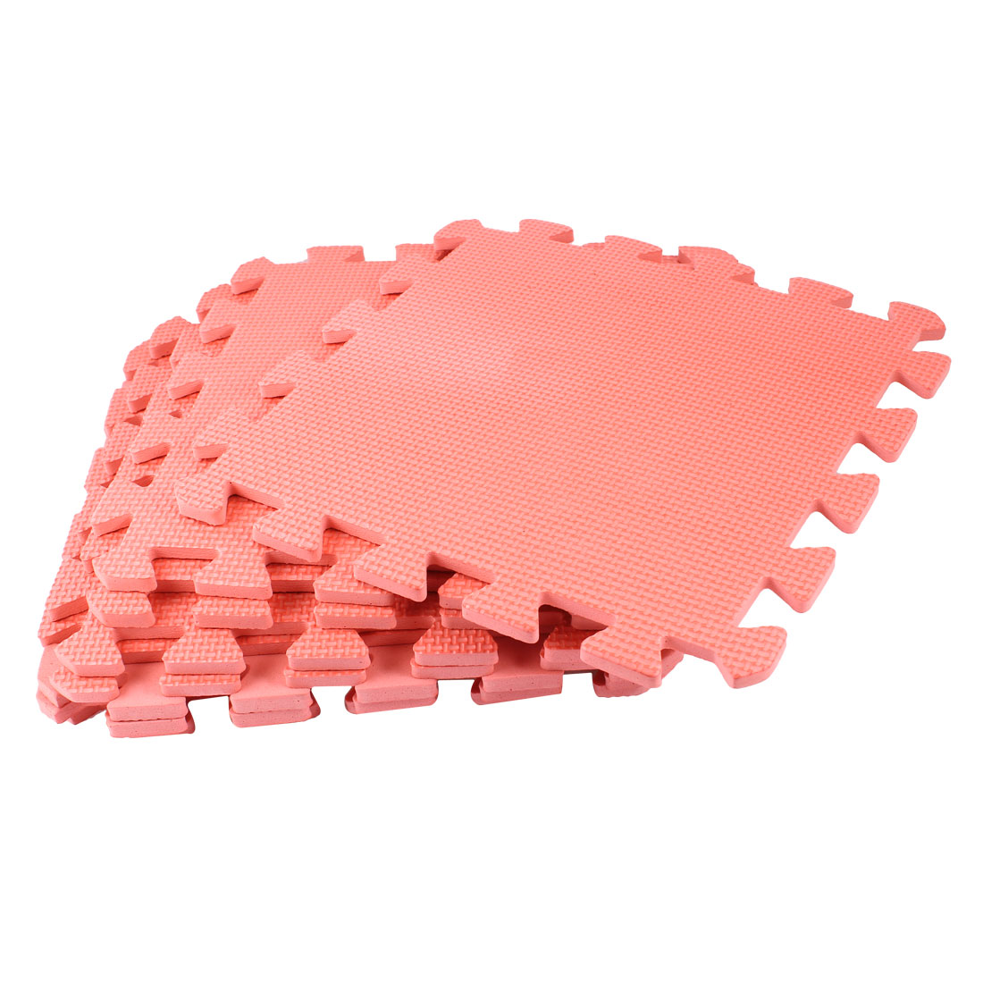 9PCS Interlocking Gym Exercise Foam Floor Tiles Large Mats Watermelon Red