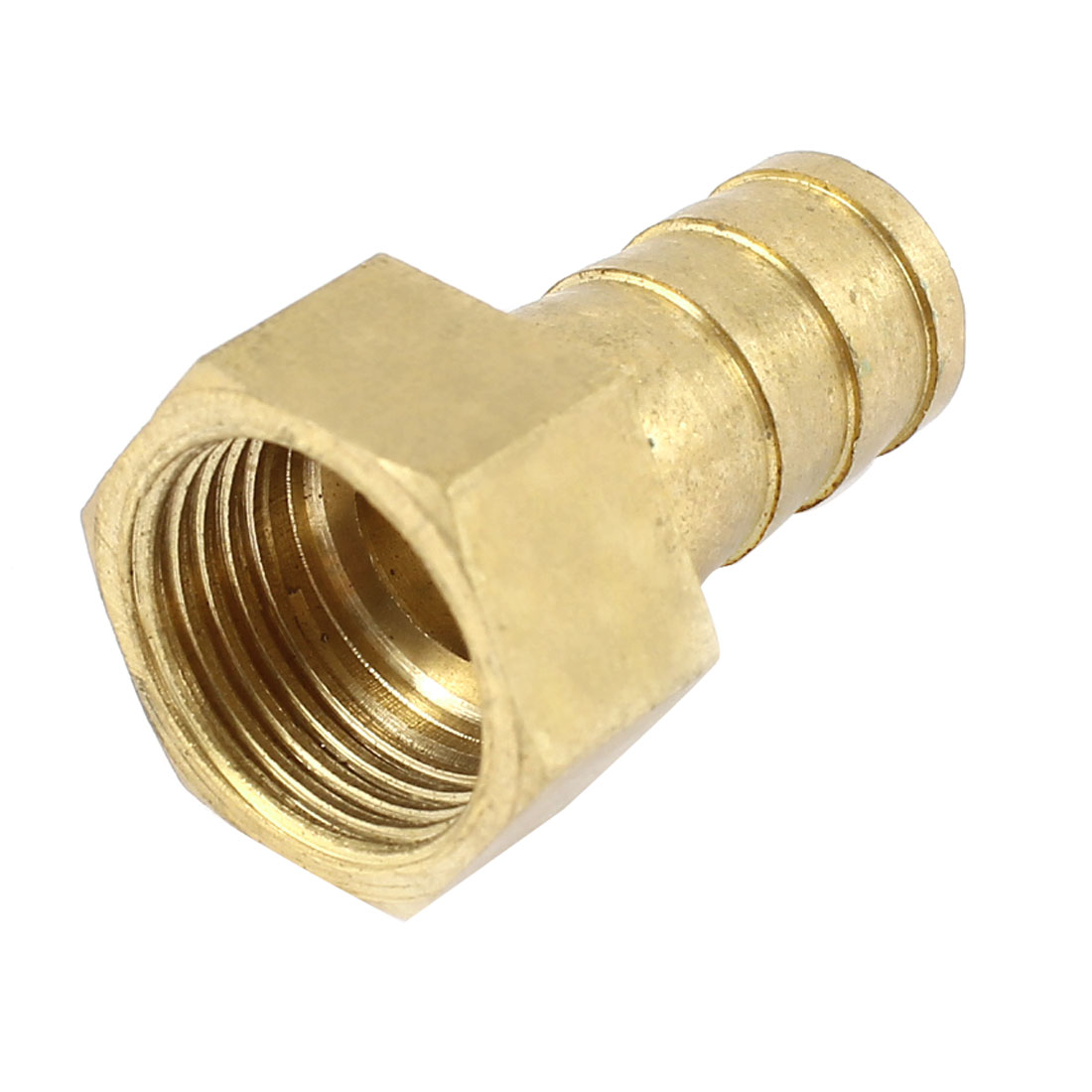 3/8 PT Female to 10mm Hose Barb Air Fuel Gas Pipe Quick Connector Brass Tone