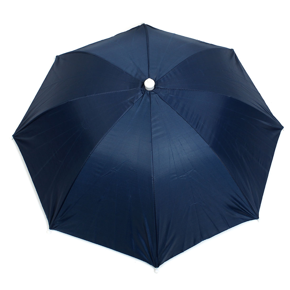Outdoor Fishing Headwear Polyester Canopy Umbrella Hat Cap Dark Blue