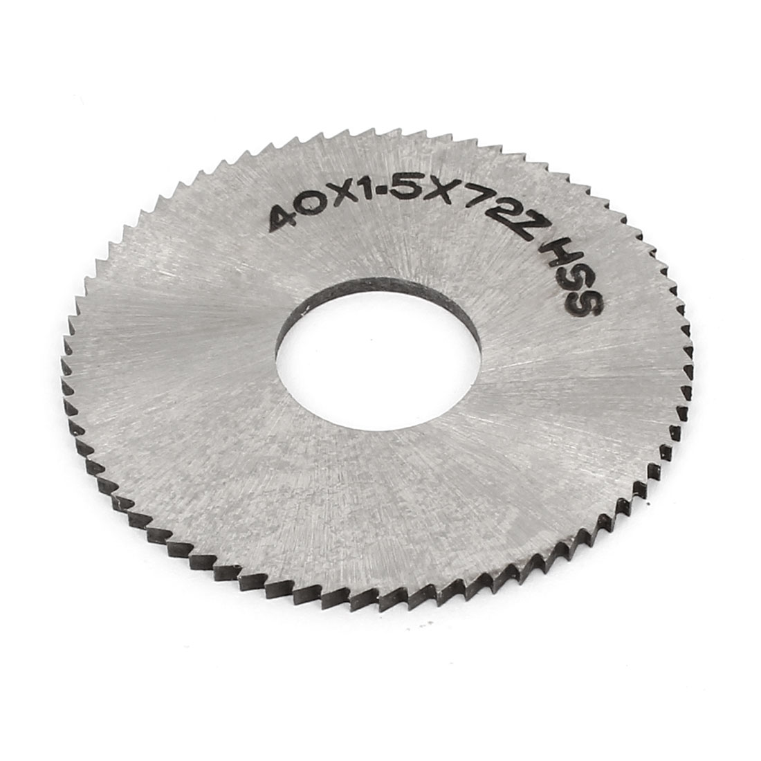 40mm x 1.5mm x 13mm HSS 72 Teeth High Speed Steel Round Grooving Milling Slitting Saw Cutter Cutting Tool Silver Tone