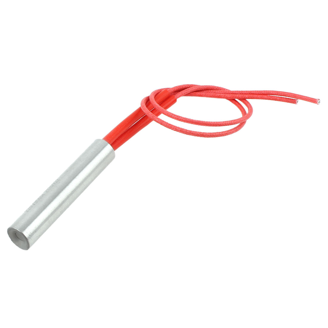 AC 220V 350W 12 x 60mm Stainless Steel Cartridge Heater Silver Tone Red