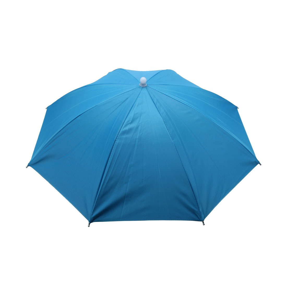 Camping Hiking Beach Elastic Headband Umbrella Hat Headwear Sky Blue