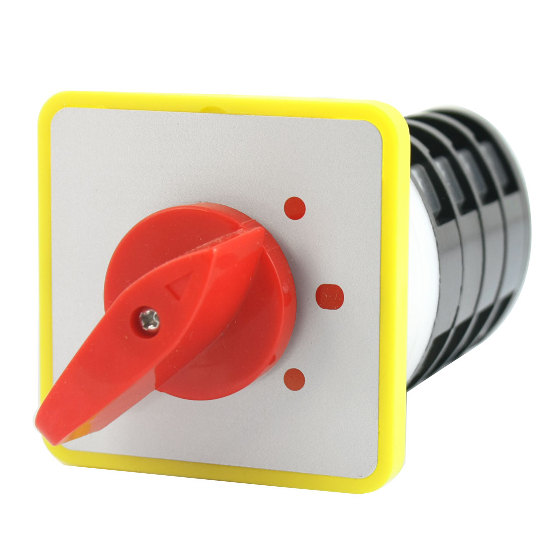 AC500V 16A 3-Position 4 Poles 16 Screw Terminals Square Panel Mount Rotary Select Cam Changeover Switch