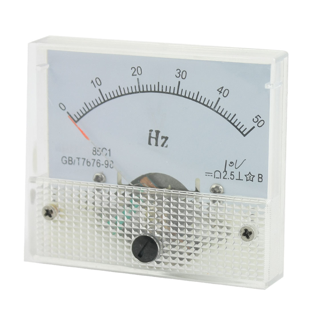 2.5 0-50Hz DC 10V Panel Analog Frequency Meter Measure Tool 85C1
