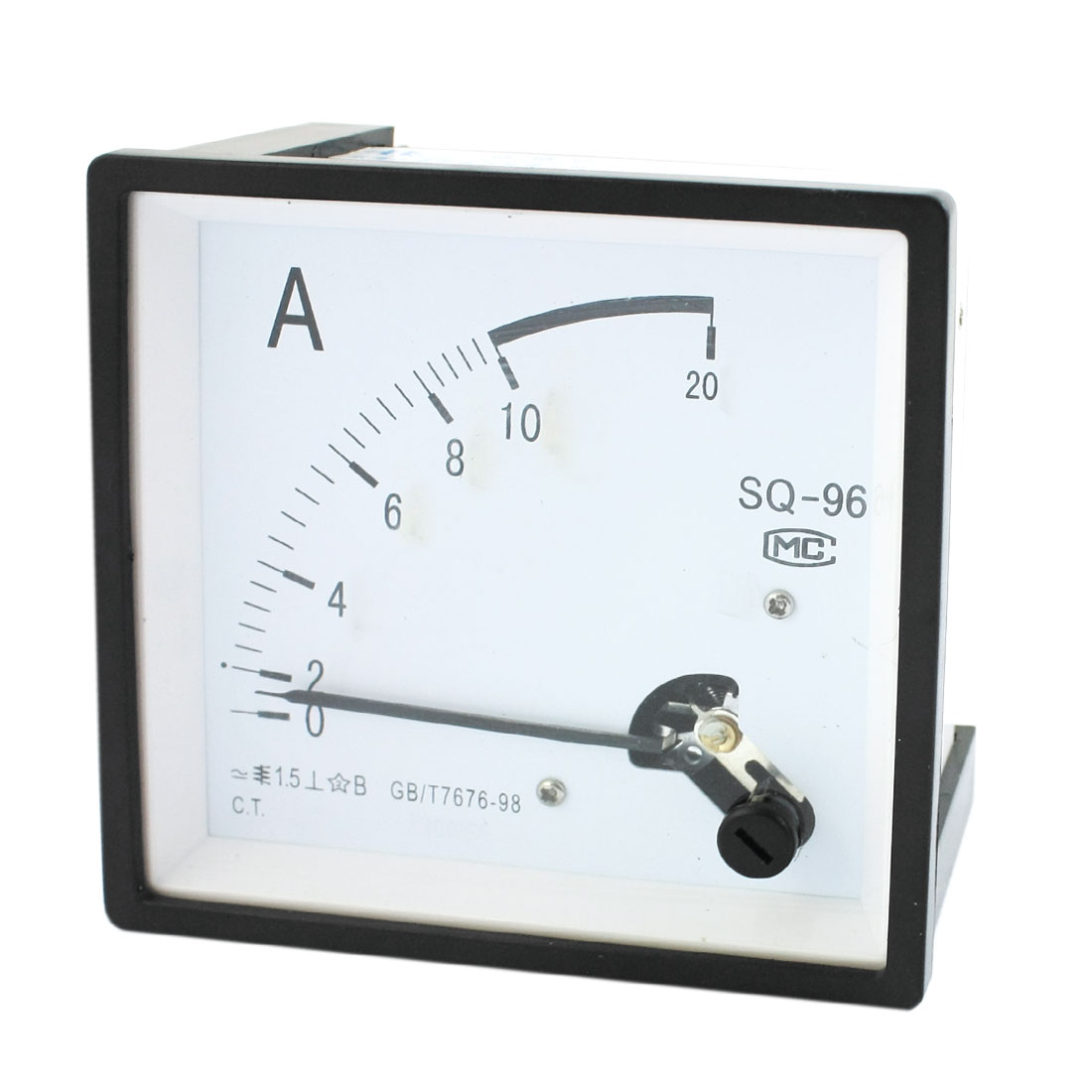 AC 0-10A Measuring Range Class 1.5 Current Testing Panel Mounting Rectangle Analog Meter Amperemeter