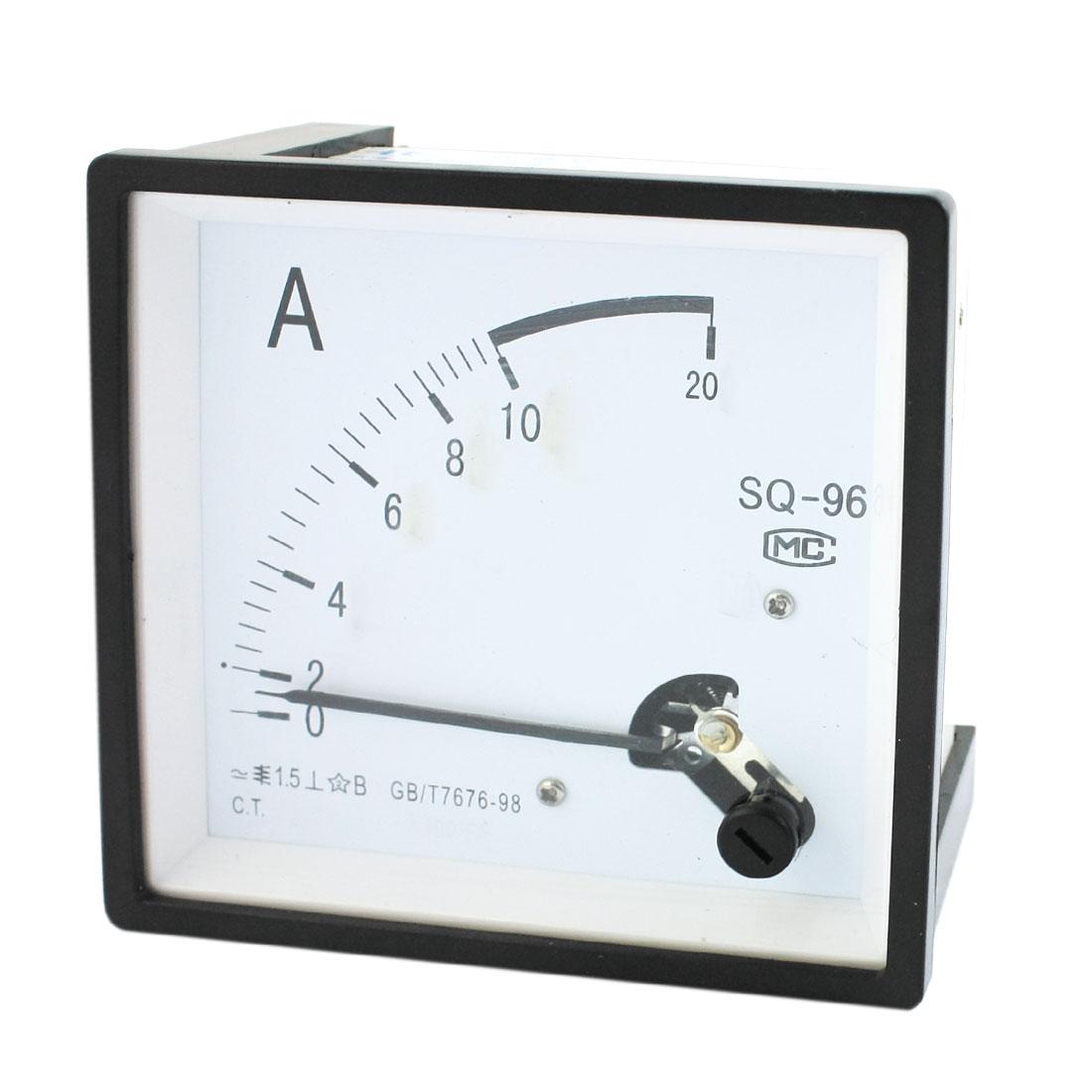 AC 0-10A Measuring Range Class 1.5 Current Testing Panel Mounting Rectangle Analog Meter Amperemeter