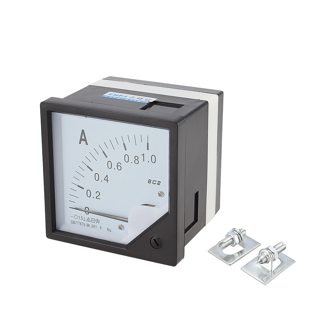 DC 0-1A Class 1.5 Current Measuring Panel Mounting Analog Meter Ammeter 6C2