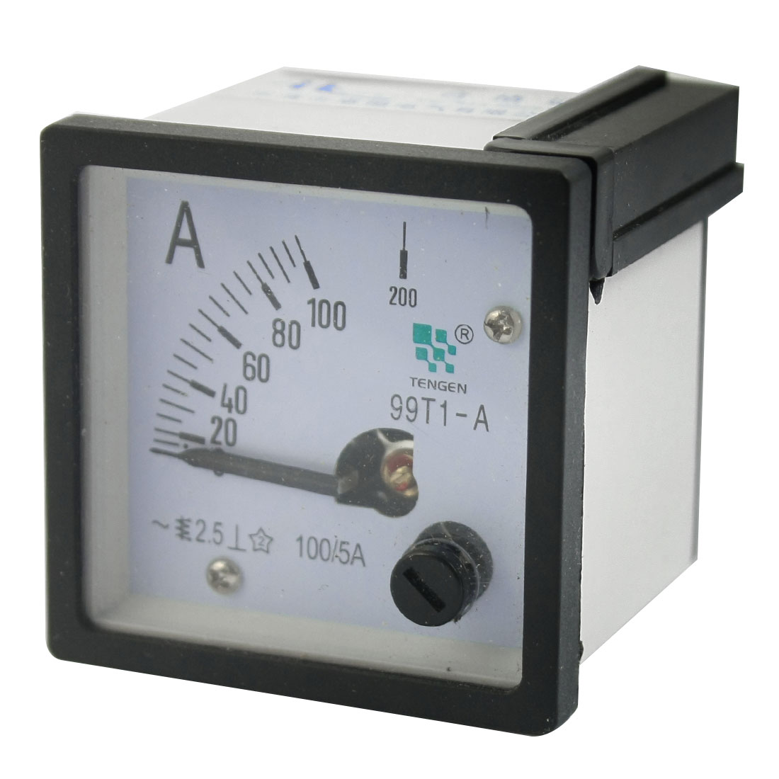 99T1 AC 0-100A Measuring Range Class 2.5 Current Testing Square Panel Analog Ammeter Amperemeter for School Lab