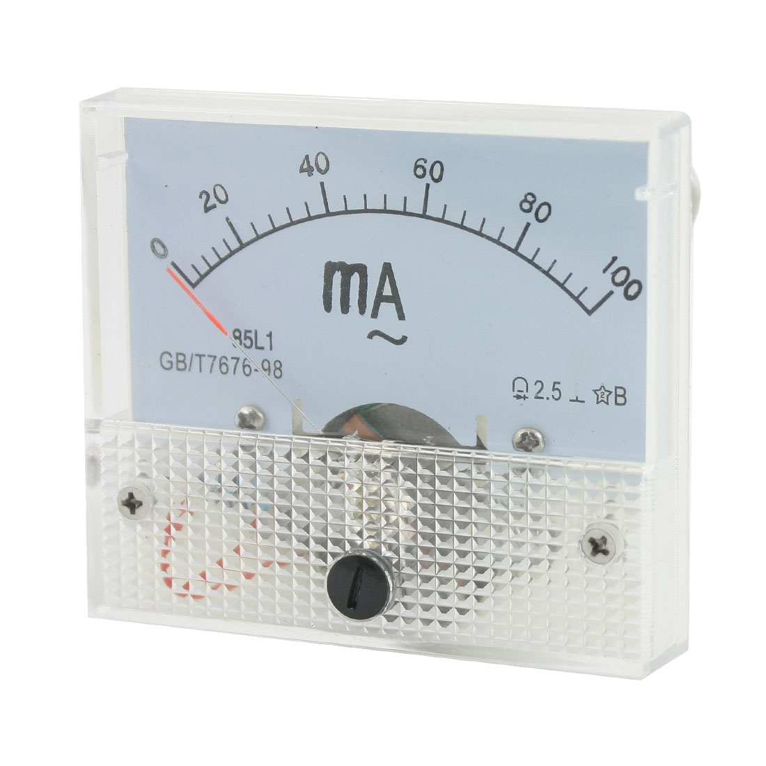 AC 0-100mA Measuring Range Current Testing Panel Analog Ammeter Amperemeter Class 2.5 for School Lab