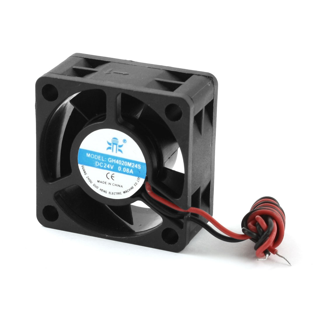 DC 24V 0.08A 2-Wired Square Black Plastic Frame 5 Fans Axial Cooling Fan Cooler 92mm x 92mm x 25mm