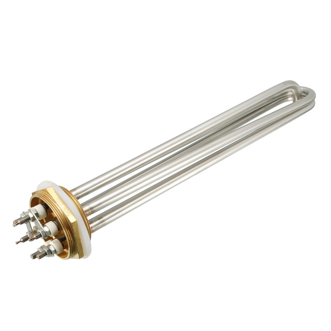 """3U Bundle 2"""" Thread Electric Tubular Water Heater Element AC380V 12000W"""