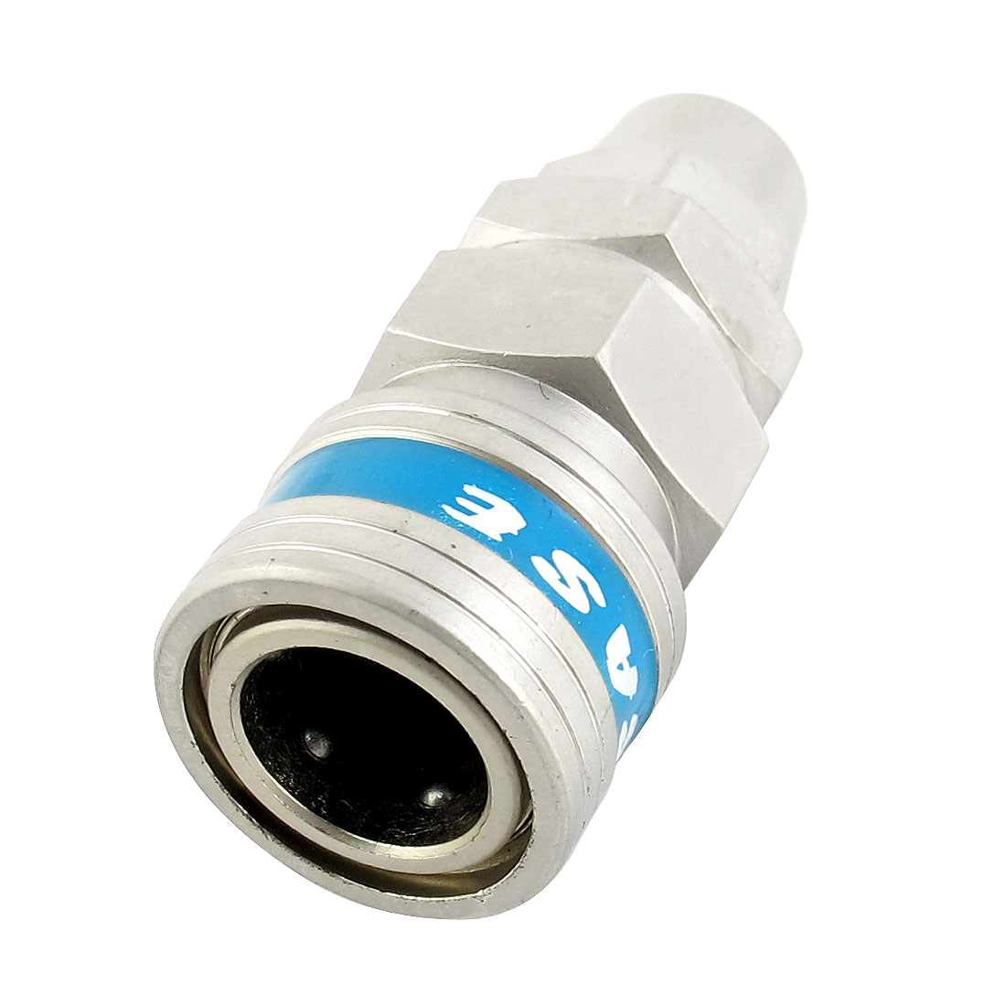 SP30 7mm x 10mm Tube Silver Tone Alloy Air Pneumatic Quick Release Fitting Coupler Connector