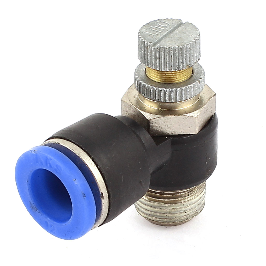 3/8PT Male Thread to 12mm Push in Tube Dia Adjustable Air Pneumatic Speed Controller Connect Fitting Coupler Joint