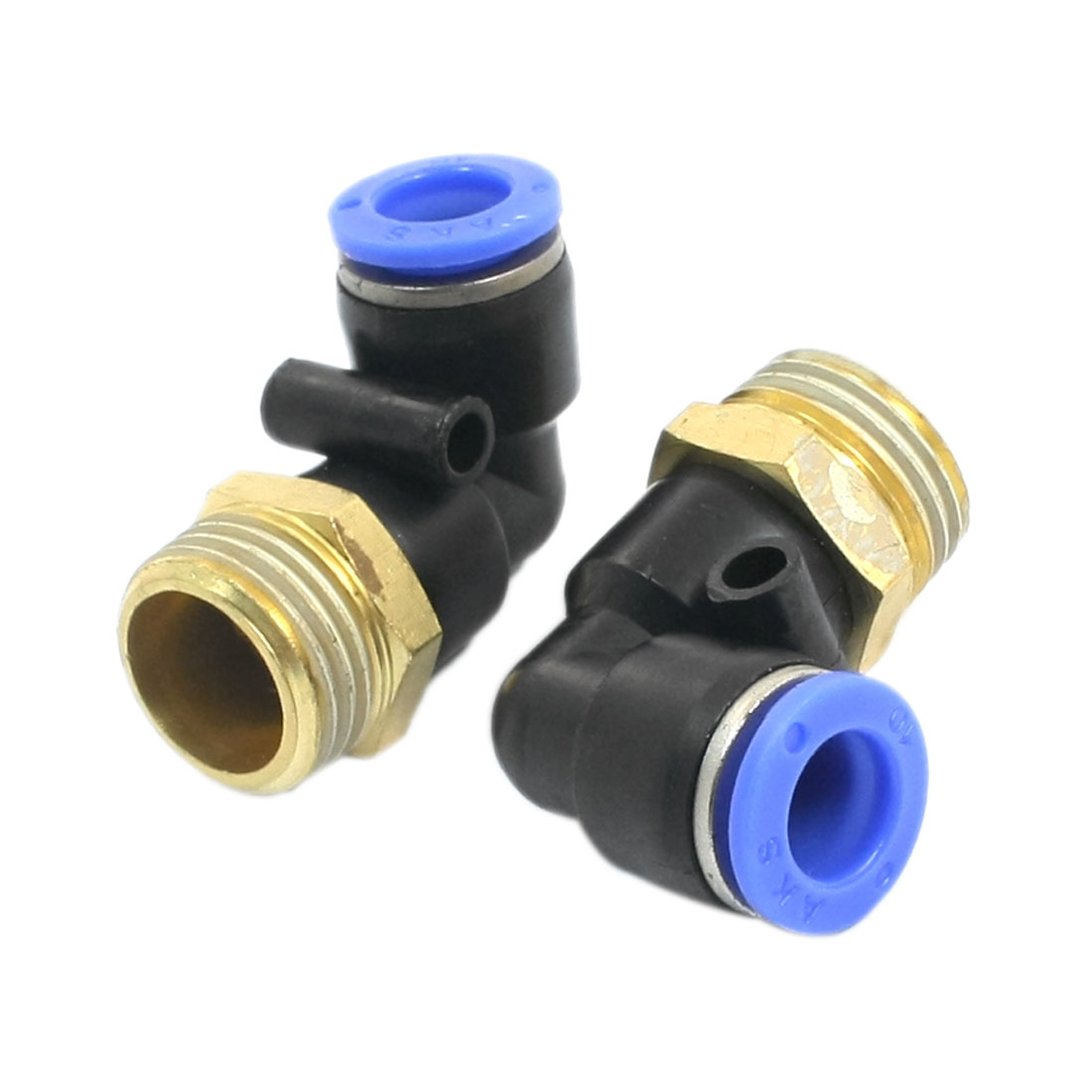 2PCS 1/2PT Male Thread to 10mm Push in Tube Dia L Shaped Pneumatic Air Quick Release Fitting Coupler Joint Connector