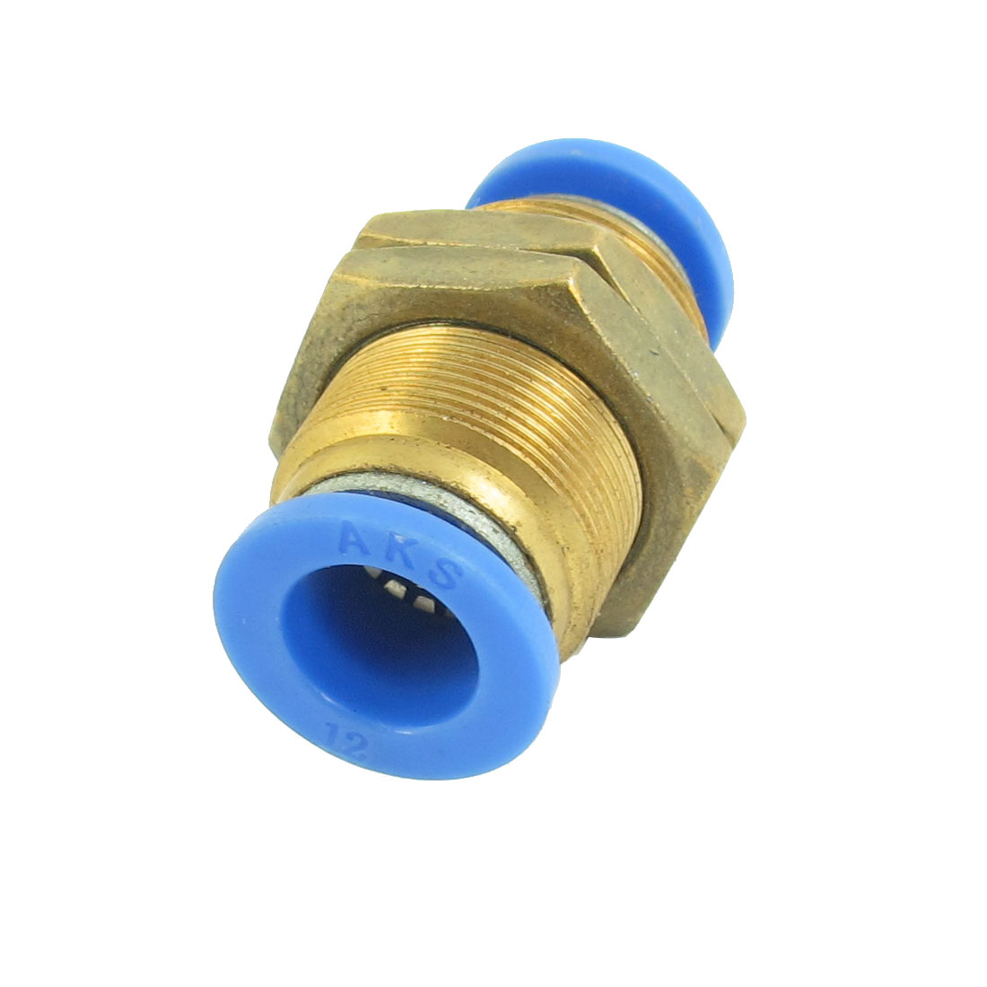 21mm Panel Mounting 12mm to 12mm Push in Hose Pipe Connector Air Pneumatic Quick Fitting Coupler