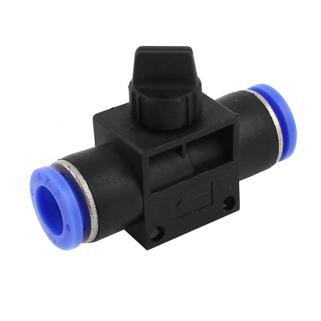 8mm to 8mm Dia Pipe Straight Push in Air Pneumatic Manual Valve