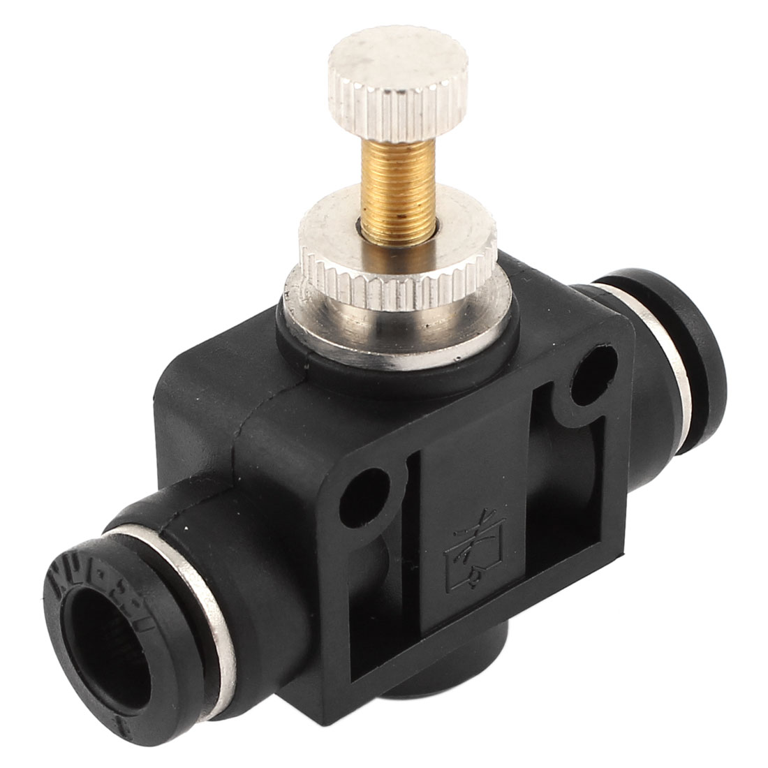 8mm to 8mm Push in Tube T-shaped Quick Connector Air Pneumatic Fitting Speed Controller