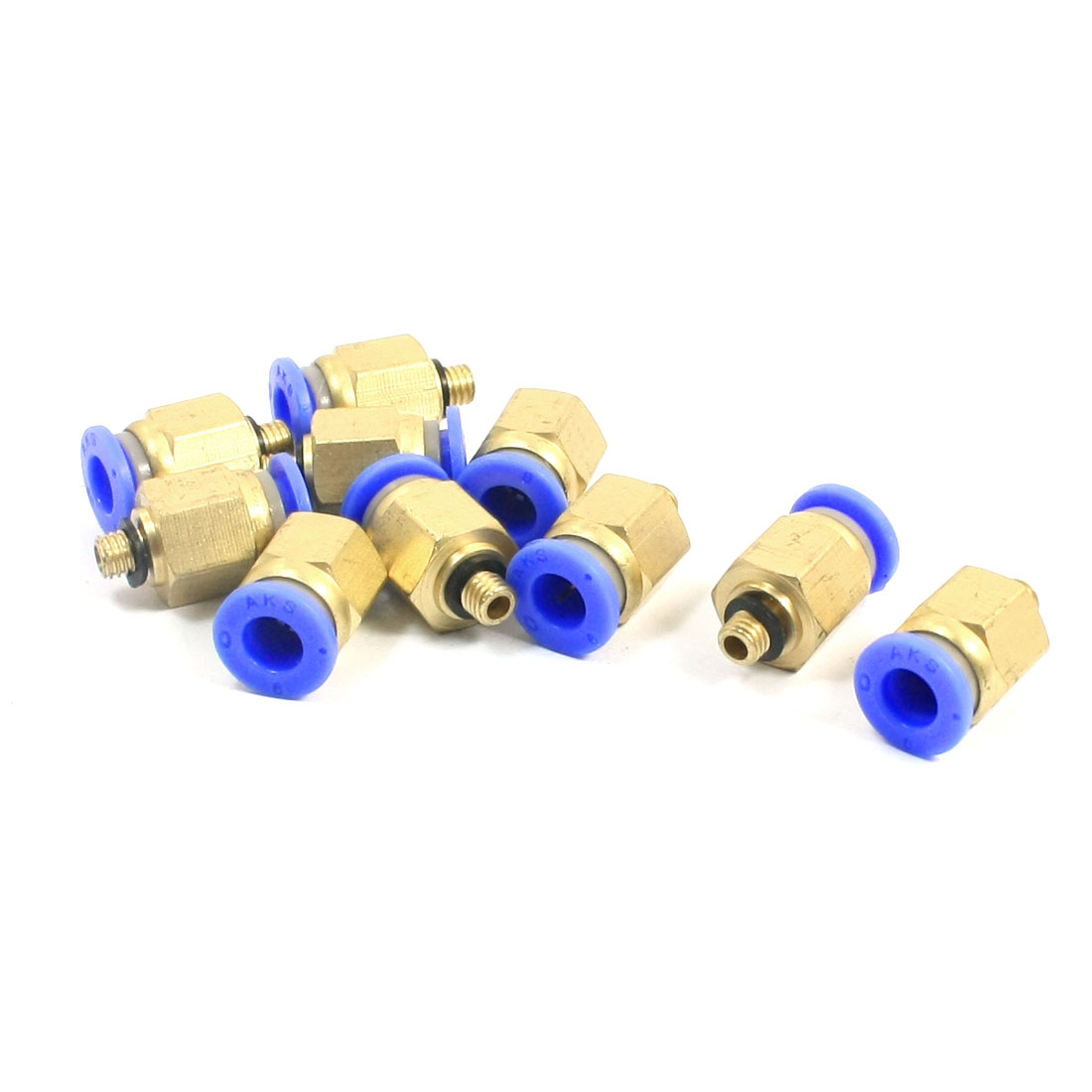 10 PCS M5 Thread 6mm Push in Tube Dia Pneumatic Quick Release Fitting Coupler Joint Connector Adapter