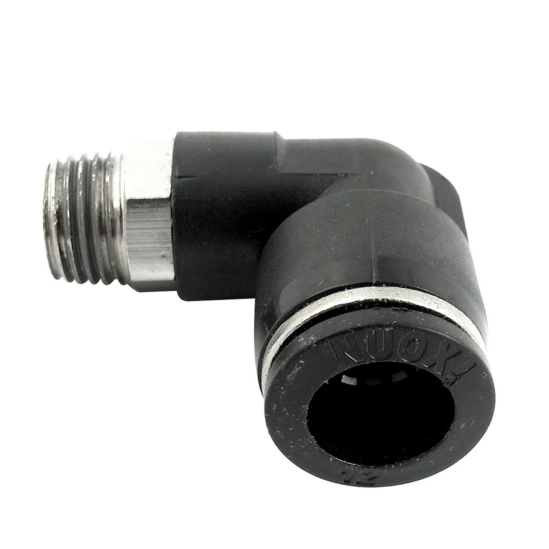 Air Pneumatic 1/4PT Male Thread to 12mm Push in Tube L Shaped Elbow Connector Quick Fitting