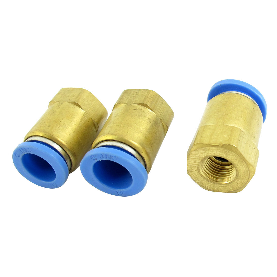 3pcs 8mm 1/8PT Female Threaded to 12mm Tube Dia Straight Pneumatic Air Quick Release Fitting Coupler Connector Adapter