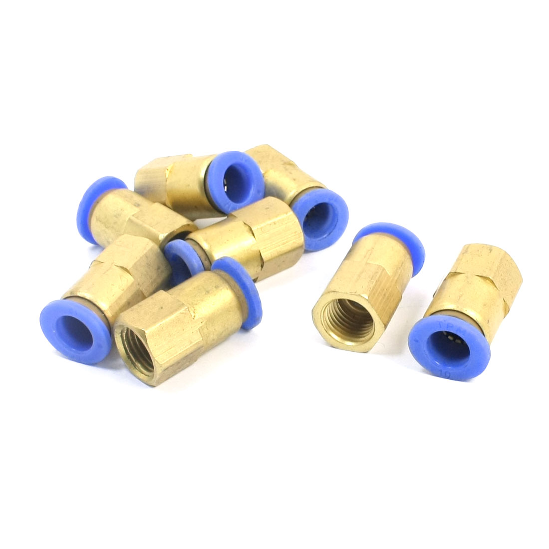 8pcs 11mm Female Thread to 10mm Pipe Push in Pneumatic Air Quick Fitting Connector Coupler PCF10-02