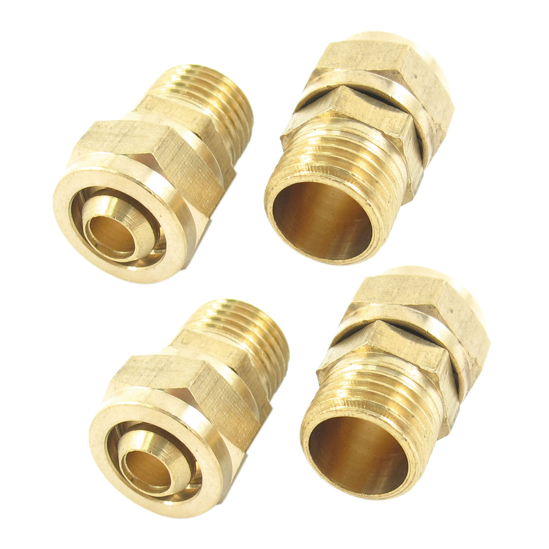 4 Pcs 1/4PT Male Threaded 10mm x 6.5mm Tube Air Pneumatic Pipe Connector Joint Adapter