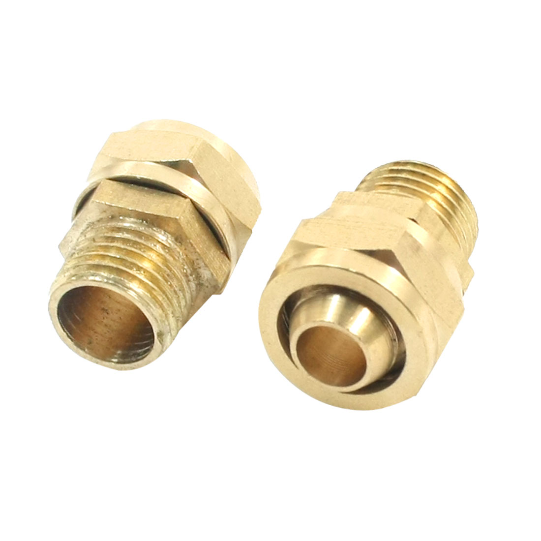 2PCS 1/4PT Male Thread to 10mm Push in Tube Dia Pneumatic Air Quick Release Fitting Coupler Joint Connector Adapter