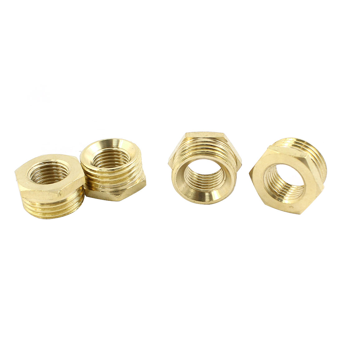 4 Pcs Air Pipe Fittings Male 1/2PT to Female 1/4 PT Exterior Hex Head Socket Adapter Caps