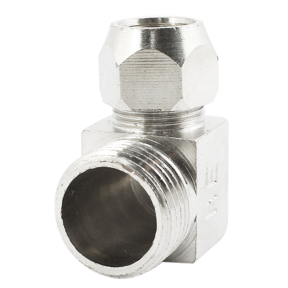 1/2PT Male Threaded Right Angle Elbow Connector Quick Coupling Coupler Silver Tone for 12mm Dia Air Pneumatic Hose