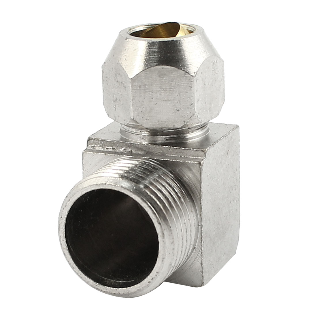3/8PT Male Threaded L-Shaped Quick Coupling Coupler Connector Silver Tone for 8mm Dia Air Pneumatic Hose