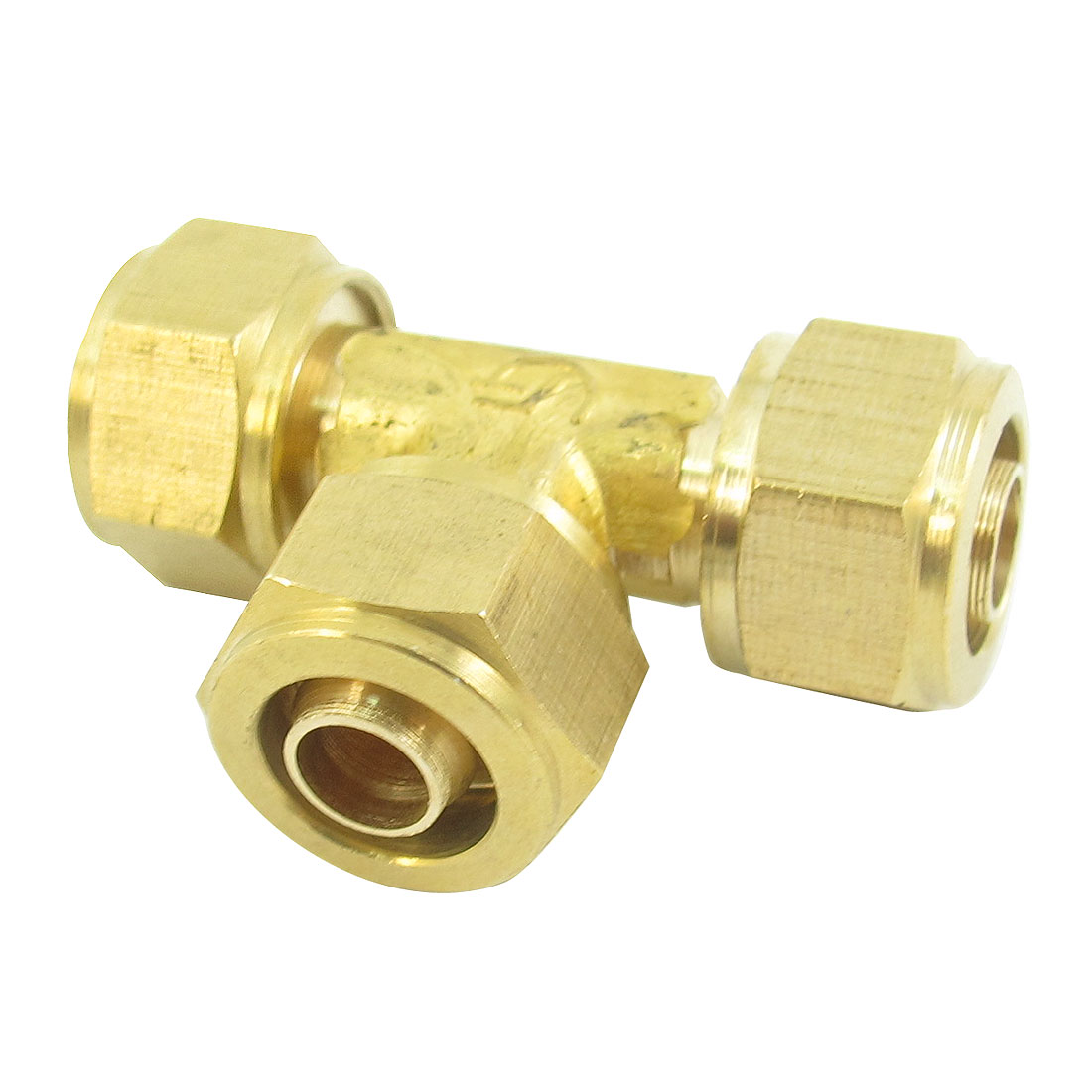 10mm Tube Inner Dia T Shaped 3 Ways Brass Air Pneumatic Quick Fitting Connector Coupler Joint