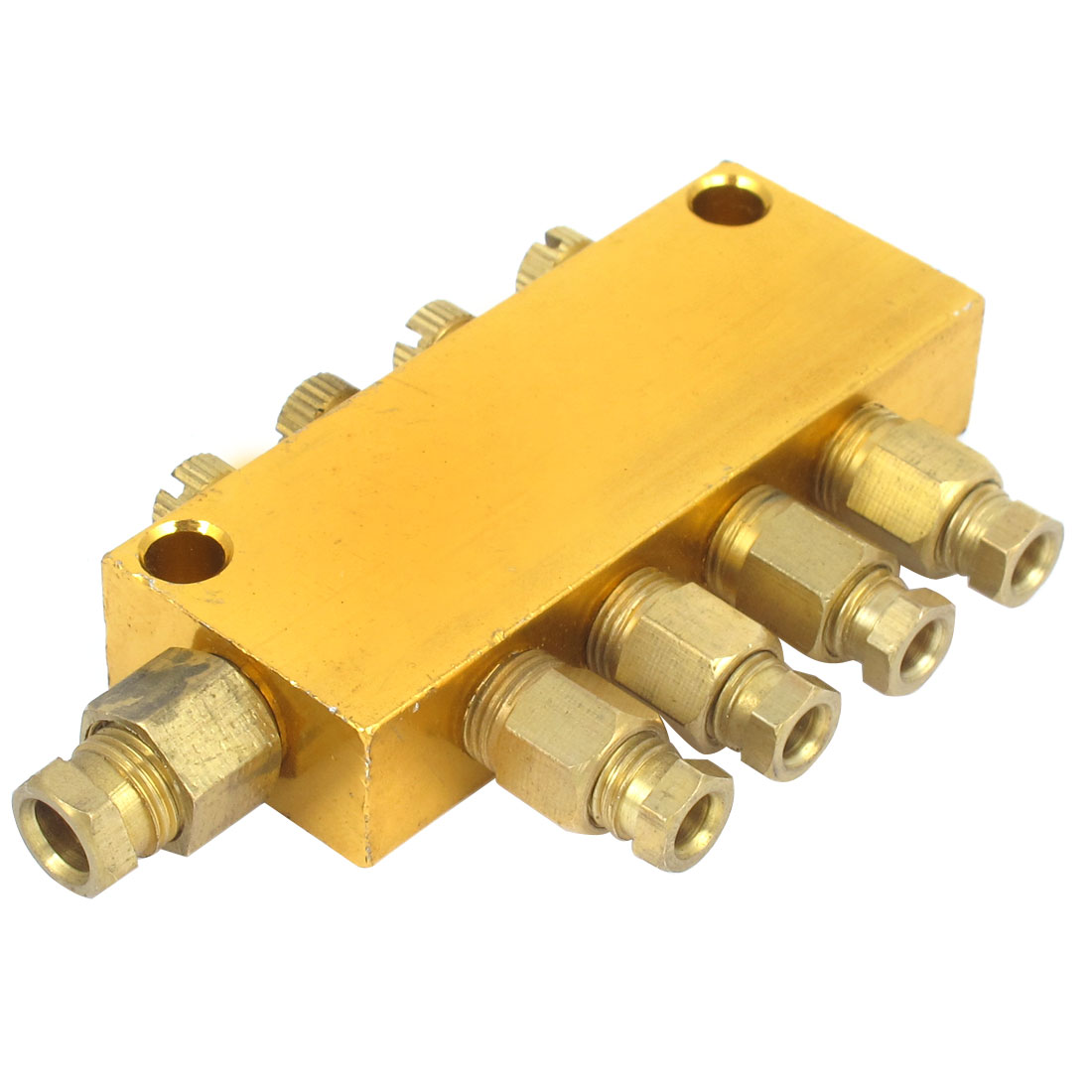 Air Pneumatic Brass Adjustable 1-Inlet 4-Outlet Hydraulic Oil Distributor Regulating Manifold Block